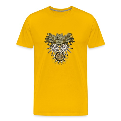 tribal mask 1y - Men's Premium T-Shirt