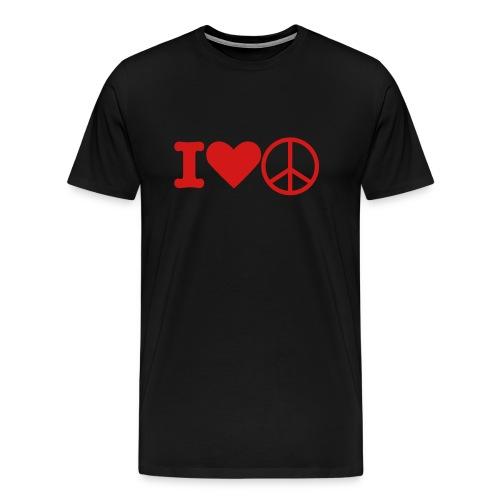 I LOVE PEACE T - Men's Premium T-Shirt