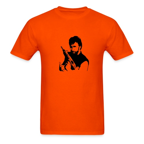 Chuck with Gun - Men's T-Shirt