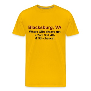 Blacksburg: QBs get a 5th chance - Men's Premium T-Shirt