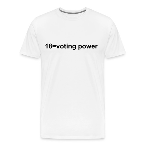18=voting power - Men's Premium T-Shirt