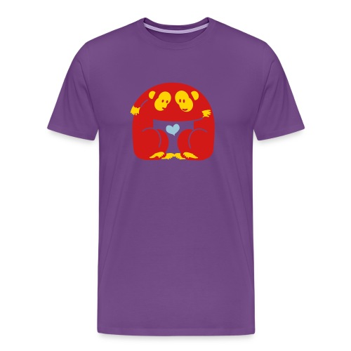 Monkey Heart - Men's Premium T-Shirt