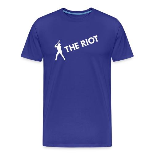 THE RIOT (royal) - Men's Premium T-Shirt