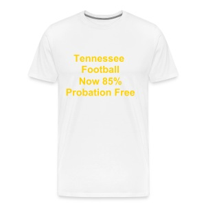 Tennessee Football (White) - Men's Premium T-Shirt