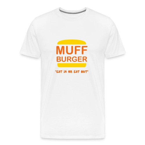 Muff Burger on White - Men's Premium T-Shirt