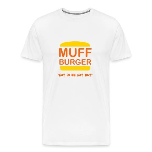Muff Burger on White - Men's Premium T-Shirt