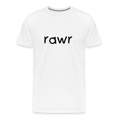 rawr (white) - Men's Premium T-Shirt