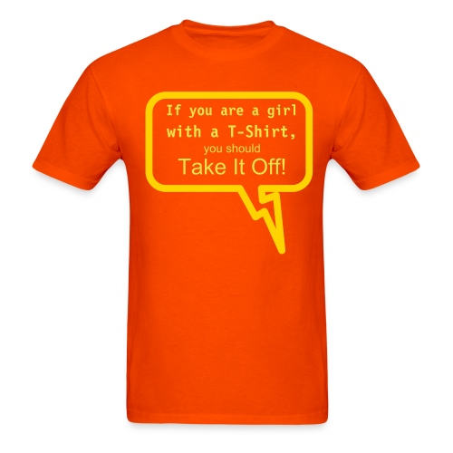 Mike Says Take it Off - Men's T-Shirt
