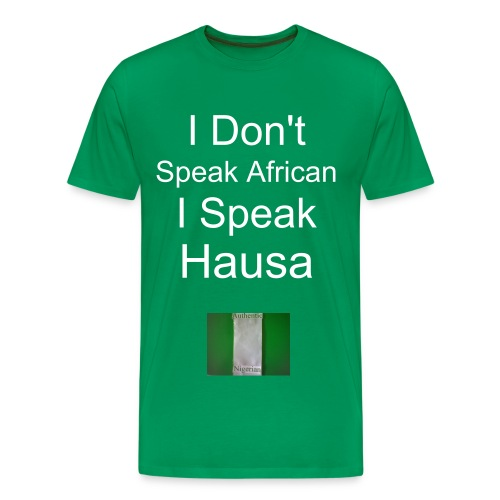 I Speak Hausa w/backside Heavyweight cotton T-shirt - Men's Premium T-Shirt