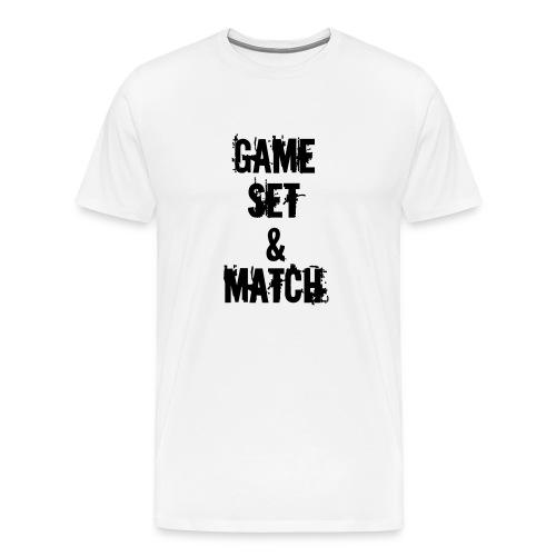 GAME, SET & MATCH / KIWI - Men's Premium T-Shirt