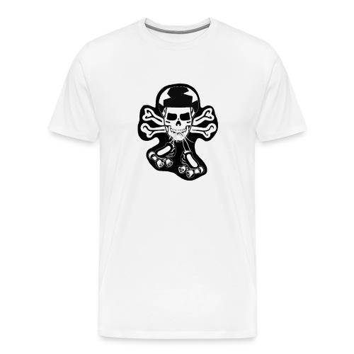 skate or die black on white t-shirt - Men's Premium T-Shirt
