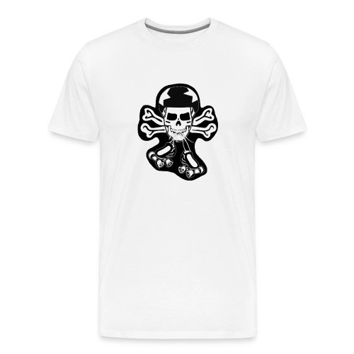 skate or die black on white t-shirt - Men's Premium T-Shirt