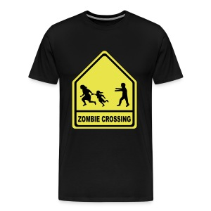 Zombie Crossing - Men's Premium T-Shirt