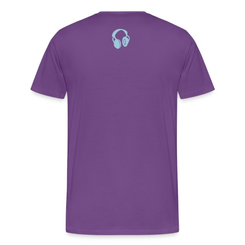 DAN DESIGN - ELECTRO BLOB PURPLE - Men's Premium T-Shirt