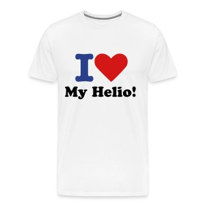 I Love My Helio! Blue, Black & Red - Men's Premium T-Shirt