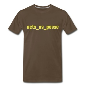 Rails has a posse - Men's Premium T-Shirt