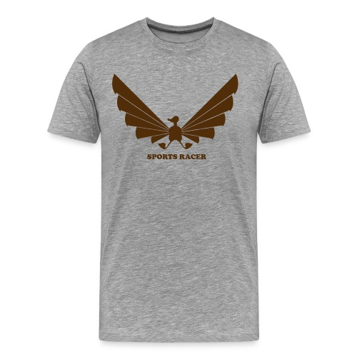 LOA - brown on white - Men's Premium T-Shirt