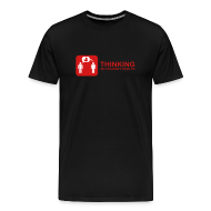T-Shirts ~ Men's Premium T-Shirt ~ thinking - red on black