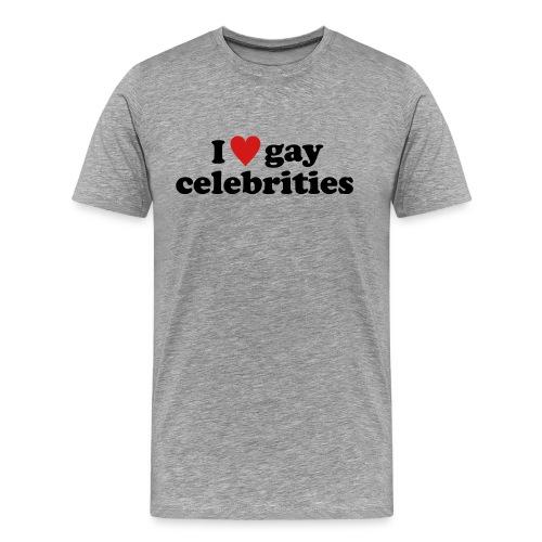gay celebs - black on white - Men's Premium T-Shirt