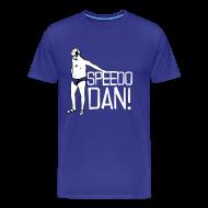 T-Shirts ~ Men's Premium T-Shirt ~ Men's XXXL Blue Speedo Dan