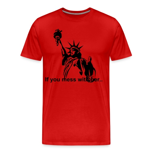 Mess with her? - Men's Premium T-Shirt