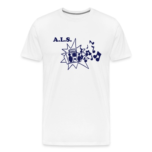 Boombox White/Blue - Men's Premium T-Shirt