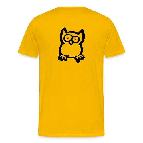Senior Tee w/ Owl on Back - Men's Premium T-Shirt