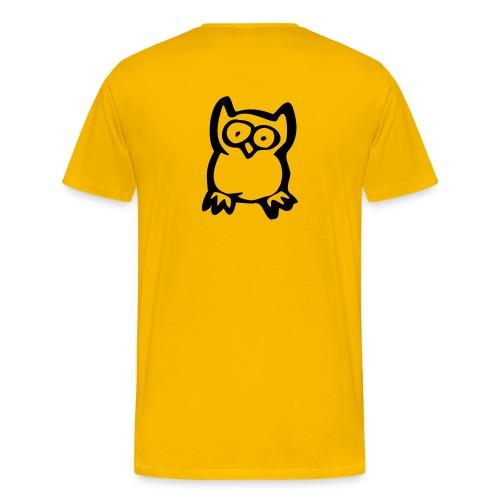 Senior Tee w/ Owl on Back - Men's Premium T-Shirt