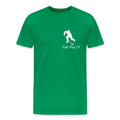 Just Play It! (Hockey Player) - T-shirt premium pour hommes