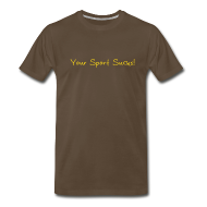 T-Shirts ~ Men's Premium T-Shirt ~ sportsucks (chocolate)