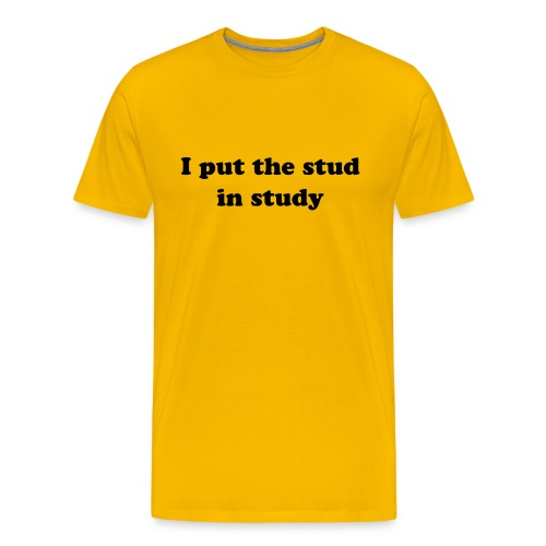 I PUT THE STUD IN STUDY T-Shirt - Men's Premium T-Shirt