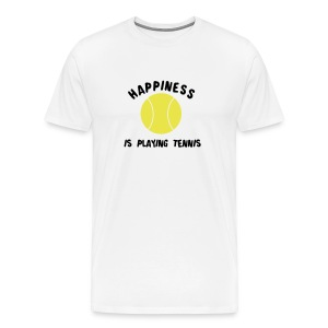 happinessistennis (white) - Men's Premium T-Shirt
