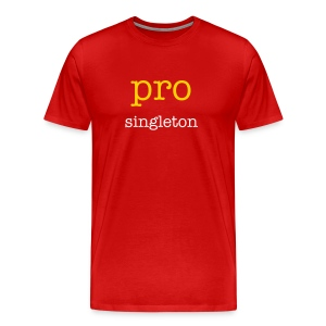 pro singleton (front), anti singleton (back) - Men's Premium T-Shirt