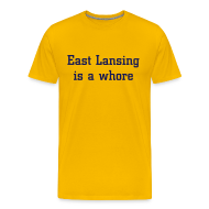 T-Shirts ~ Men's Premium T-Shirt ~ East Lansing - Standard Maize