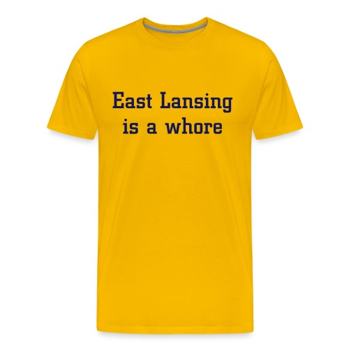 East Lansing - Standard Maize - Men's Premium T-Shirt
