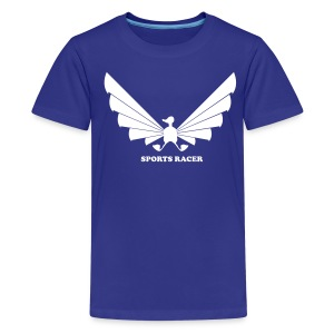 LOA - white on blue - Kids' Premium T-Shirt