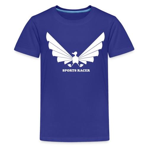 LOA - white on blue - Kids' Premium T-Shirt
