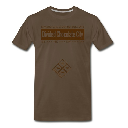 Chocolate Divided City Tee ['Divided Chocolate City'] in Chocolate - Men's Premium T-Shirt