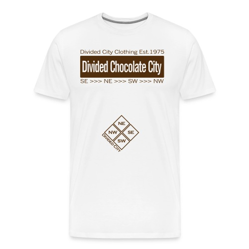 White Divided City Tee ['Divided Chocolate City'] in Chocolate - Men's Premium T-Shirt