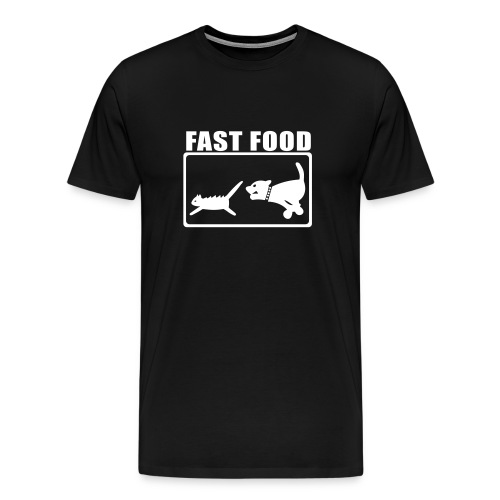 Fast Food- Black/White - Men's Premium T-Shirt