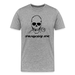 TRAGEDY ROSE SKULL MEN'S TEE - Men's Premium T-Shirt