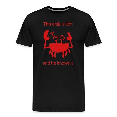 L337 Crab - Men's Premium T-Shirt
