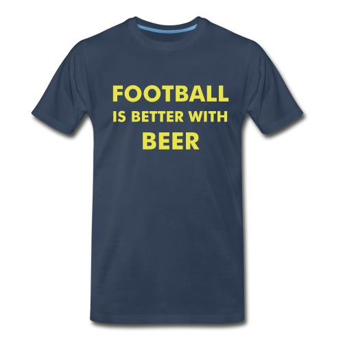 Football & Beer Blue - Men's Premium T-Shirt