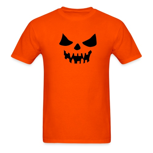 Halloween Face Orange - Men's T-Shirt