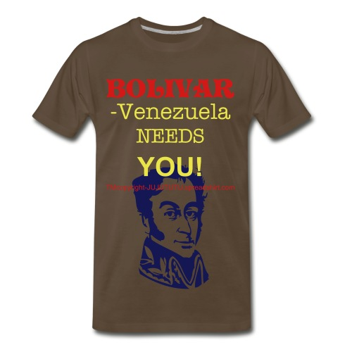 xxxl-clk photos to see TEXT ON BACK=deliver us from chavez-venezuela libreTM,COPYRIGHT,ALL RIGHTS RESERVED - Men's Premium T-Shirt