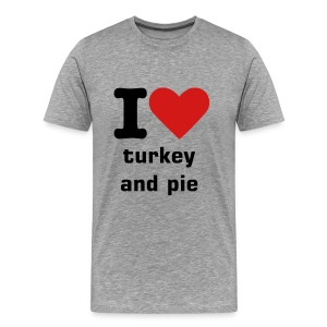 I heart turkey&pie - Men's Premium T-Shirt
