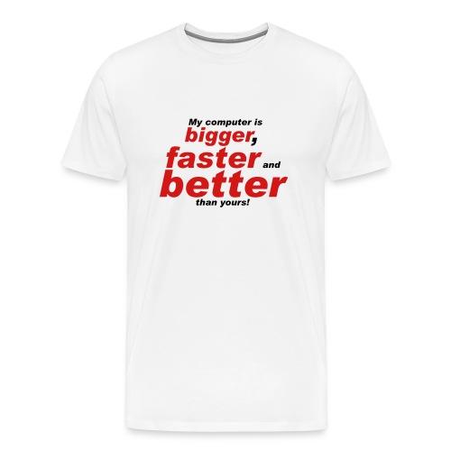 My Computer  Yours - Men's Premium T-Shirt