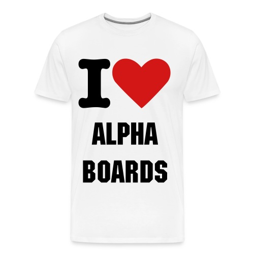 I Heart Alpha Tee - Men's Premium T-Shirt
