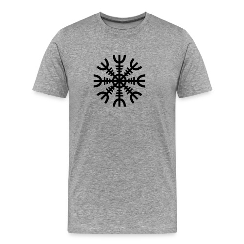 Aegishjalmur: The Helm of Awe - Ash - Men's Premium T-Shirt