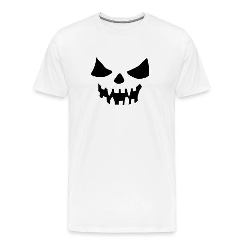 Halloween Face White - Men's Premium T-Shirt